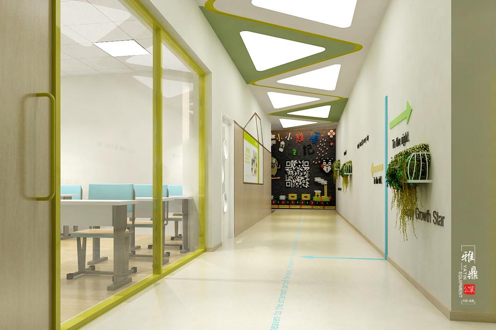 魔力格托管培训学校装修设计效果图过道